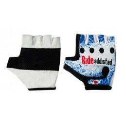 Biker-Pro  guanti in pelle e lycra - M
