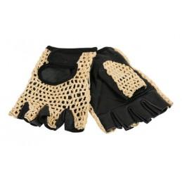 Sport  guanti in pelle e cotone - L - Nero