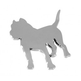Emblema 3D cromato - Dog