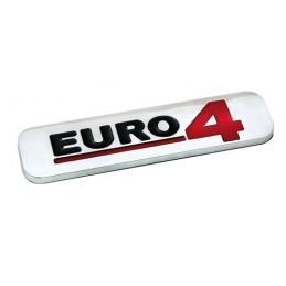 Emblema Antinquinamento 3D cromato - 100x25 mm - Euro 4