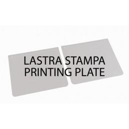 Lastra di stampa per personalizzazione coppie paraspruzzi (riutilizzabile)