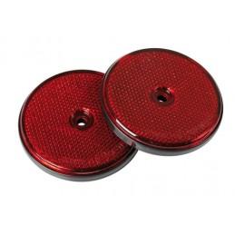 Catarifrangenti rotondi -   65 mm - Rosso