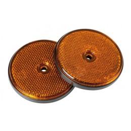 Catarifrangenti rotondi -   65 mm - Arancio