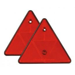 Euro-Norm catarifrangenti triangolari - 150x130 mm - Rosso