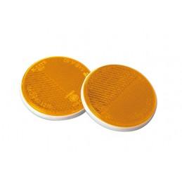Euro-Norm  catarifrangenti rotondi -   65 mm - Arancio