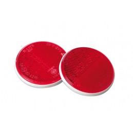 Euro-Norm  catarifrangenti rotondi -   65 mm - Rosso