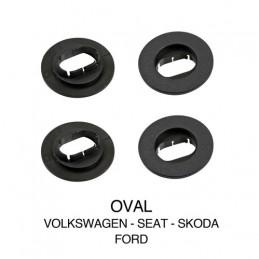 Clip fissaggio tappeti  set 4 pz - Ovale - Volkswagen  Seat  Skoda  Ford