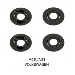 Clip fissaggio tappeti  set 4 pz - Tondo - Volkswagen