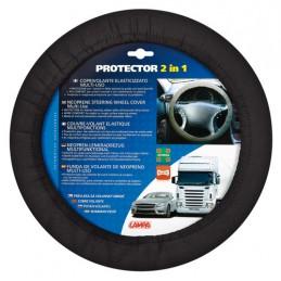 Protector 2 in 1  coprivolante elasticizzato - Nero