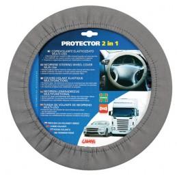 Protector 2 in 1  coprivolante elasticizzato - Grigio