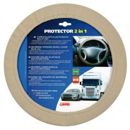 Protector 2 in 1  coprivolante elasticizzato - Beige
