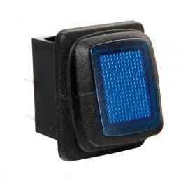 Interruttore impermeabile con spia a Led - 12 24V - Blu