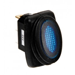 Micro interruttore impermeabile con spia a Led - 12 24V - Blu