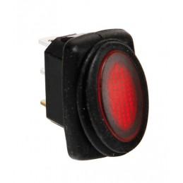 Micro interruttore impermeabile con spia a Led - 12 24V - Rosso