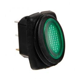 Micro interruttore impermeabile con spia a Led - 12 24V - Verde