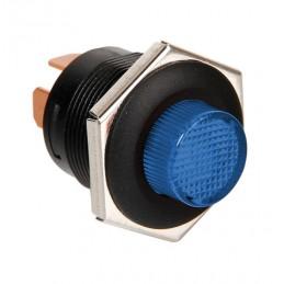 Interruttore a pulsante con spia a Led - 12 24V - Blu