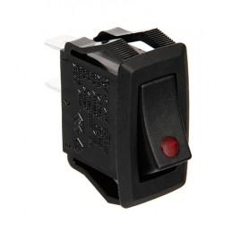 Micro interruttore con spia a Led - 12 24V - Rosso