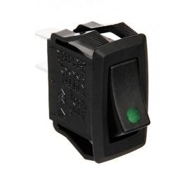 Micro interruttore con spia a Led - 12 24V - Verde