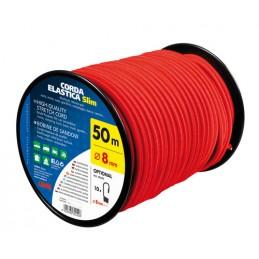Corda elastica in bobina  rosso -   8 mm - 50 m