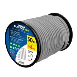 Corda elastica in bobina  grigio -   8 mm - 50 m