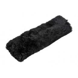 Cuscino avvolgicintura in vera pelliccia di montone - Nero