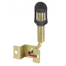 Fix-8  Staffa con perno e spinotto DIN per lampade rotanti  attacco tubolare