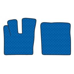 Coppia tappeti in similpelle - Blu - Daf XF 106 (10 12 06 17)  - Daf XF 106 (07 17 )