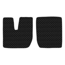 Coppia tappeti in similpelle - Nero - Iveco Stralis (08 02 12 12) cabina larga - Iveco Stralis (09 16 ) cabina larga - Iveco Str