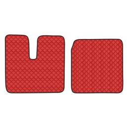 Coppia tappeti in similpelle - Rosso - Man TGA (03 99 05 10) cabina larga