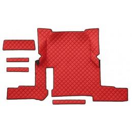 Tappeto centrale in similpelle - Rosso - Man TGX (01 18 ) automatico  2 cassetti
