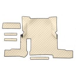 Tappeto centrale in similpelle - Panna - Man TGX (01 18 ) automatico  2 cassetti