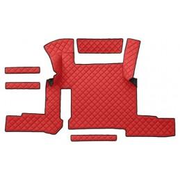 Tappeto centrale in similpelle - Rosso - Man TGX (01 18 ) automatico  1 cassetto