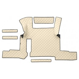 Tappeto centrale in similpelle - Panna - Man TGX (01 18 ) automatico  1 cassetto