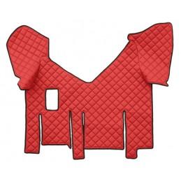 Tappeto centrale in similpelle - Rosso - Iveco Stralis XP (01 18 ) manuale  doppio frigo scorrevole