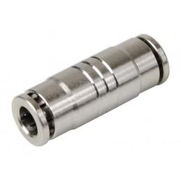 Raccordo rapido dritto in metallo  per tubi aria -   6 mm