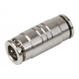 Raccordo rapido dritto in metallo  per tubi aria -   8 mm