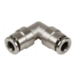 Raccordo rapido a 90 gradi  in metallo  per tubi aria -   6 mm