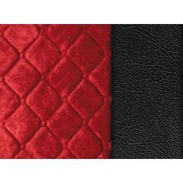 Lolita  coprisedile in similpelle e poliestere - Nero Rosso