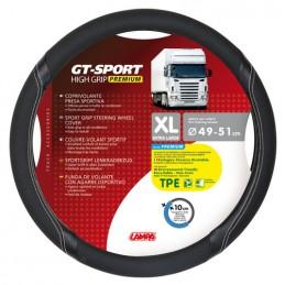 GT-Sport  coprivolante in TPE - XL -   49 51 cm - Nero Argento