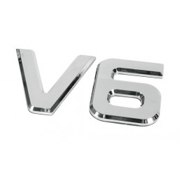 Emblemi motore 3D cromati - 92x165 mm - V6