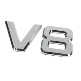 Emblemi motore 3D cromati - 92x165 mm - V8
