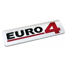 Emblema Antinquinamento 3D cromato - 170x50 mm - Euro 4