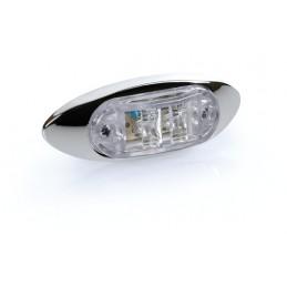 Luce ingombro a 2 Led  24V - Bianco