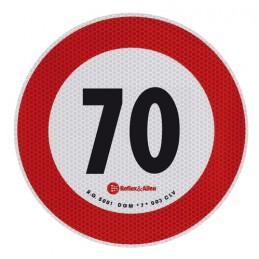 Contrassegno limite velocità - 70 Km h