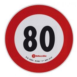 Contrassegno limite velocità - 80 Km h