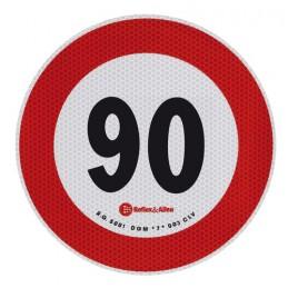 Contrassegno limite velocità - 90 Km h