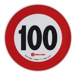 Contrassegno limite velocità - 100 Km h