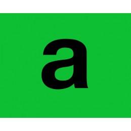 Marcatura in pvc verde con supporto adesivo - A
