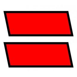 Kit contrassegni adesivi  2 pz - Nero Rosso