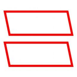 Kit contrassegni adesivi  2 pz - Rosso Bianco